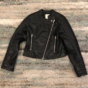 Faux Leather Moto Jacket!
